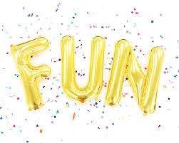 fun gold letter balloon banner baby shower decor birthday