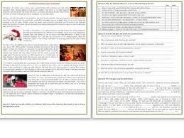 christmas reading comprehension worksheets esl intermediate to