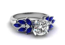 blue engagement rings engagement ring unique and affordable gemstone engagement rings