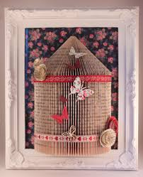 Shabby Chic Bird Cages by 13 Handmade Shabby Chic Bird Cage Origami Book Fold Art Framed 10