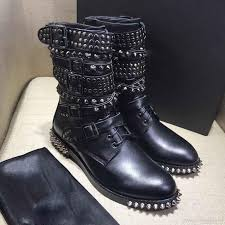 red motorcycle shoes 2018 studded boots ankle boots super invincible wild heavy