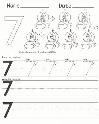 number 7 worksheets for preschools activity shelter alphabet
