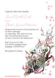 halloween wedding invitation u2013 till death do us part wedding