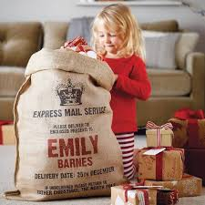 personalized santa sack 2016 new hessian vintage large personalized name print santa