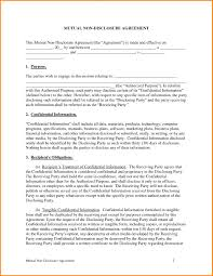 nda template word formal letter download free money loan agreement