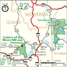 map us idaho directions transportation craters of the moon national