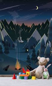 23 best baby room wall murals images on pinterest babies rooms moonlight camping wall mural