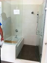 innovative walk in corner tub bathroom shower and tub ideas