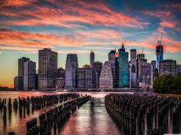 Street New York City Hd World Wallpapers Ololoshenka Pinterest by Manhattan Skyline Sunset Hd Desktop Wallpaper Widescreen High