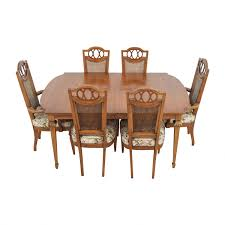 51 off italian dining set with leaf extensions and floral