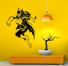 online buy wholesale batman and batgirl vinyl sticker from china yingkai batgirl batman comics super hero living room vinyl carving wall decal sticker for kids room