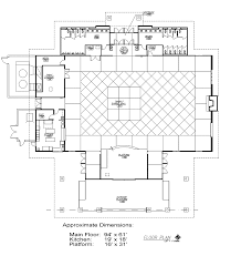 Recreation Center Floor Plan by Fairgrounds Community Building Emmet County