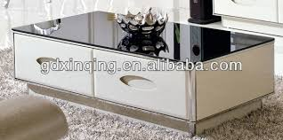 Steel Living Room Furniture Living Room Furniture Mdf Drawer With Tempered Glass Top Modern