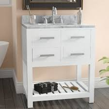 Bathroom Vanity With Shelves 26 To 30 Inch Bathroom Vanities You Ll Wayfair