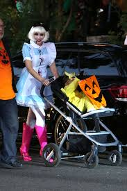 gwen stefani at a halloween party in los angeles with her sons and