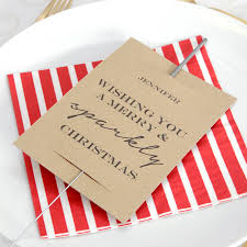 personalised christmas place setting sparkler sleeves by peach