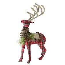 fabric reindeer figurines ebay