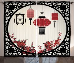 amazon com japanese curtains lantern decor curtains by ambesonne