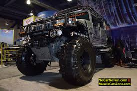 diesel brothers hummer musclecarszone 2015 sema show walkaround videos photos u0026 more