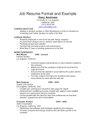 Computer Job Resume by Free Job Resume Resume For Your Job Application