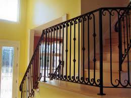 Iron Banister Rails Rod Iron Stair Railing Style Rod Iron Stair Railing In Modern