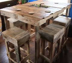 How To Make An Outside Bench Kitchen Extraordinary Pallet Kitchen Table Plans Wood Pallet