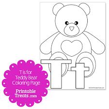 teddy bear coloring u2014 printable treats