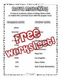 edison u0027s spotlight on nouns free english worksheet for 2nd grade