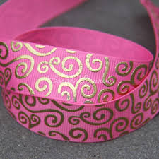 grosgrain ribbons gold swirls grosgrain ribbon 22mm med