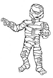 mummy coloring pages halloween funycoloring