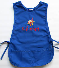 Customized Aprons For Women Personalized Kids Smock Custom Childs Art Apron Paint