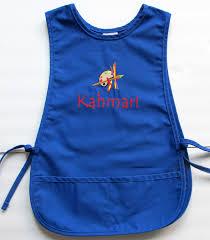 personalized kids smock custom childs art apron paint