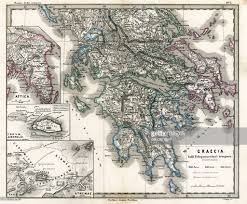Map Of Ancient Greece Antique Map Of Ancient Greece Stock Illustration Getty Images