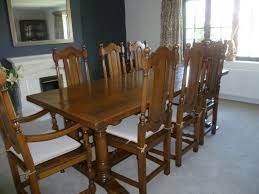 Dining Room Sets 8 Chairs Dining Table With 8 Chairs Including Two Carvers Very Heavy Solid