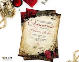 quinceanera invitations quinceanera invitations sweet 16 invitations and black