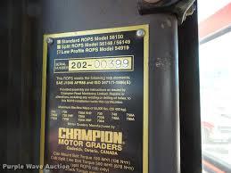 2000 champion 710a series 6 motor grader item da4538 sol