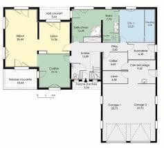 plan maison contemporaine plain pied 4 chambres supérieur plan maison de plain pied 4 chambres 12 maison