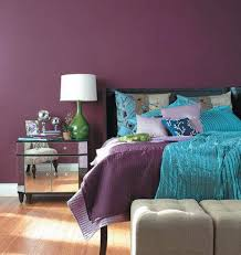 decorating the bedroom with green blue and purple cool elegance purple walls in a sophisticated bedroom