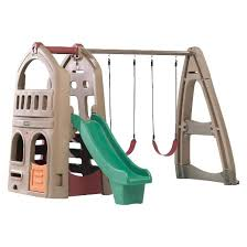 Step 2 Nice And Tidy Cottage by Step2 Naturally Playful Playhouse With Slide U0026 Swing Target