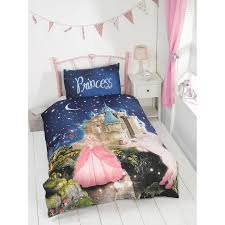 kids glow in the dark single duvet set princess bedding