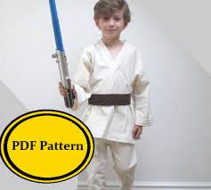 Anakin Halloween Costume Jedi Costume Sewing Pattern Star Wars Luke Skywalker Anakin