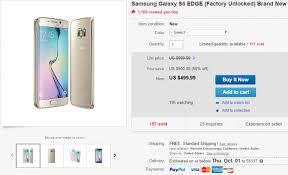 samsung galaxy s6 edge unlocked black friday deal alert new unlocked samsung galaxy s6 edge g925i on sale