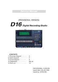 korg d16 service manual parts catalog schematic