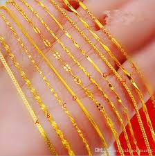 gold necklace styles images Wholesale 1o styles gold plated necklace 24k euro vietnamese sand jpg