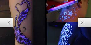 Black Light Tattoos Tattoos Com Awesome New Tattoo Trend Blacklight Tattoos That Glow