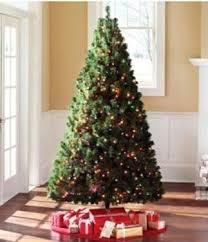 6 5 ft artificial green pine tree pre lit multi