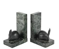 rabbit bookends rabbit bookends by edouard marcel sandoz on artnet