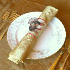 how to set a table with napkin rings thanksgiving napkin rings craft these elegant napkin rings in a