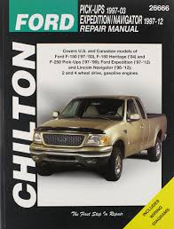 chilton ford trucks expedition navigator 1997 2002 repair manual
