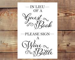 guest book wine bottle sign our wine guest bottle guest book alternative wedding